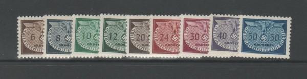 Generalgouvernement Dienstmarken Mi-Nr. 16-24 ** postfrisch
