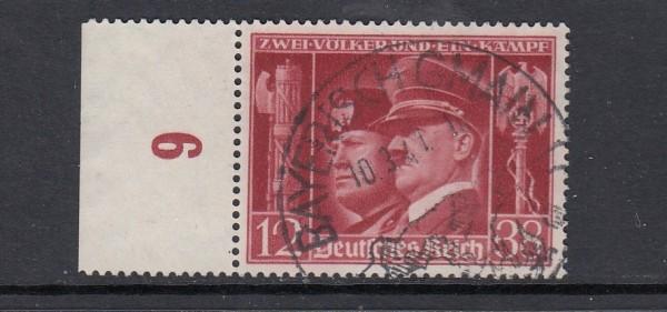 Deutsches Reich Mi-Nr. 763 zentrisch gestempelt mit Sonderstempel