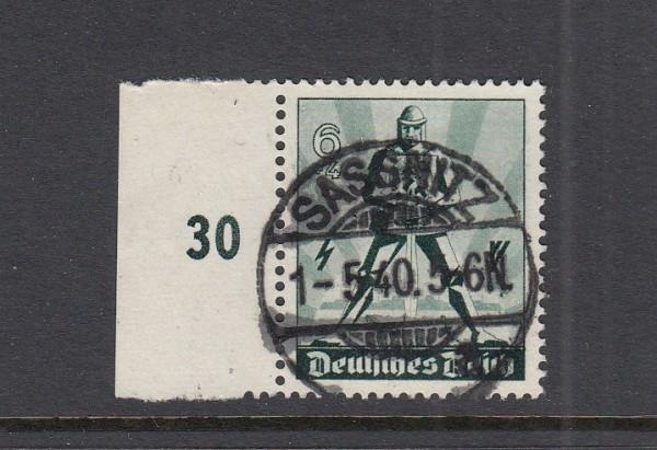 Deutsches Reich Mi-Nr. 745 zentrisch gestempelt Sassnitz