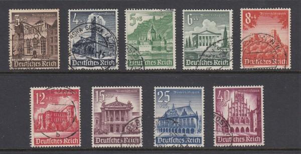 Deutsches Reich Mi-Nr. 751-759 gestempelt