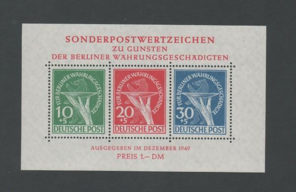 Berlin Block 1 Währungsgeschädigte ** postfrisch