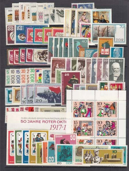 DDR Jahrgang 1967 ** postfrisch - komplett