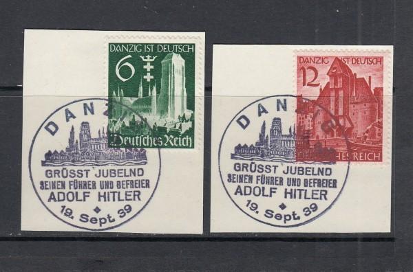 Deutsches Reich Mi-Nr. 714-715 gestempelt Sonderstempel auf Briefstück