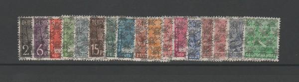 Bizone Mi-Nr. 36-51 II + 49 ** postfrisch - Netzaufdruck