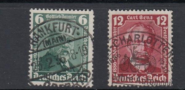 Deutsches Reich Mi-Nr. 604-605 zentrisch gestempelt