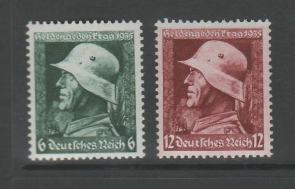 Deutsches Reich Mi-Nr. 569-570y ** postfrisch