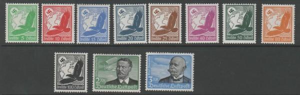 Deutsches Reich Mi-Nr 529-539x ** postfrisch - Flugpost