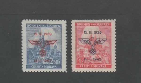 Böhmen und Mähren Mi-Nr. 83-84 ** postfrisch