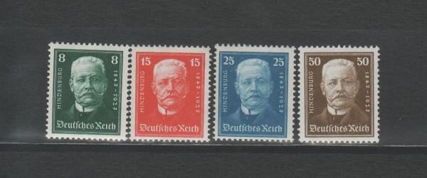 Deutsches Reich Mi-Nr. 403-406 ** postfrisch