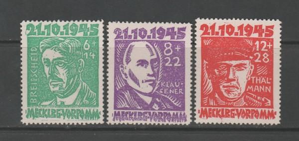 SBZ - Mecklenburg-Vorpommern Mi-Nr. 20-22 ** postfrisch