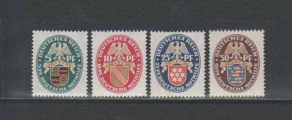 Deutsches Reich Mi-Nr. 398-401 ** postfrisch
