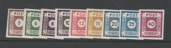 SBZ Ost-Sachsen Mi-Nr. 42-50 A ** postfrisch