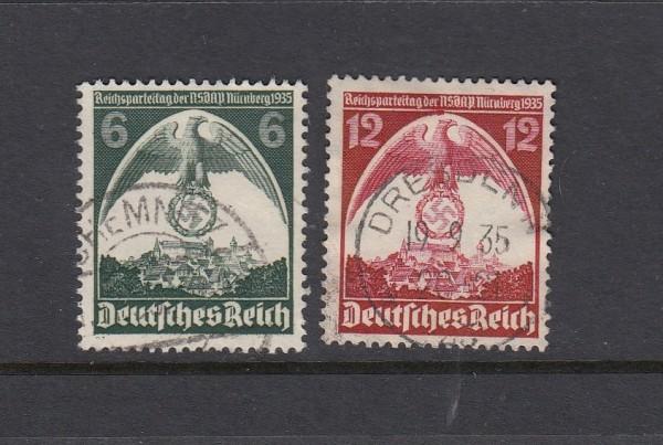 Deutsches Reich Mi-Nr. 586-587X gestempelt
