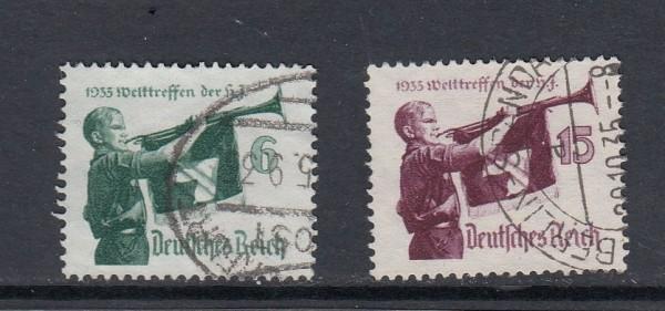 Deutsches Reich Mi-Nr. 584-585y gestempelt
