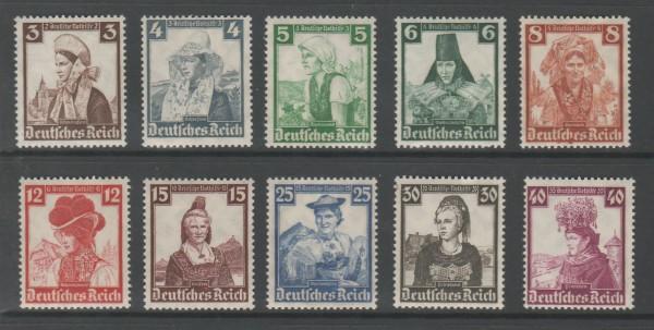 Deutsches Reich Mi-Nr. 588-597 ** postfrisch