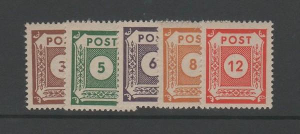 SBZ Ost-Sachsen Mi-Nr. 56-60 ** postfrisch