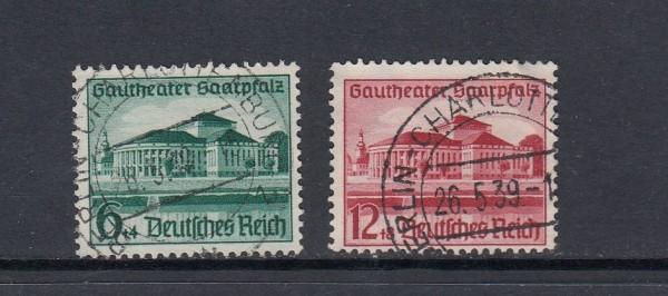 Deutsches Reich Mi-Nr. 673-674 zentrisch gestempelt
