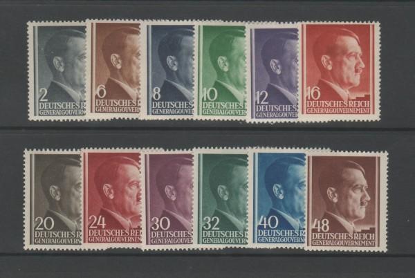 Generalgouvernement Mi-Nr. 71-82 ** postfrisch