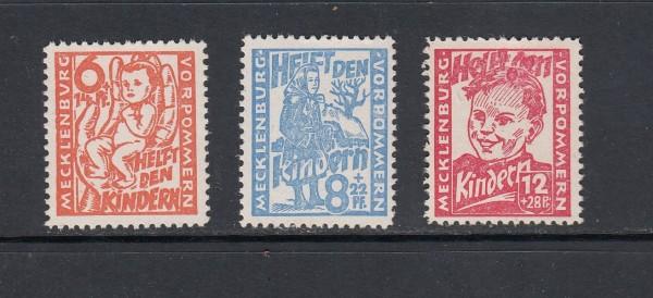 SBZ - Mecklenburg-Vorpommern Mi-Nr. 26-28 ** postfrisch