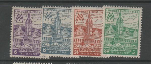 SBZ West-Sachsen Mi-Nr. 162AX-165AX ** postfrisch