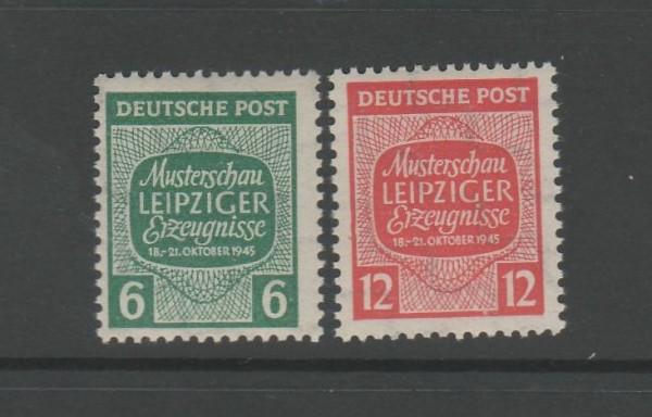 SBZ West-Sachsen Mi-Nr. 124-125 ** postfrisch