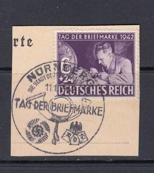 Deutsches Reich Mi-Nr. 811 gestempelt mit Ersttagsonderstempel auf Briefstück