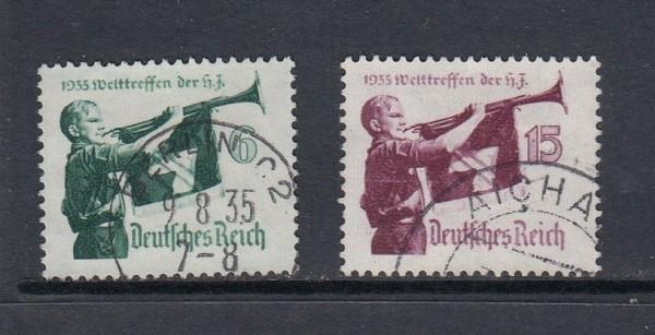 Deutsches Reich Mi-Nr. 584-585x gestempelt