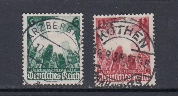 Deutsches Reich Mi-Nr. 632-633 zentrisch gestempelt