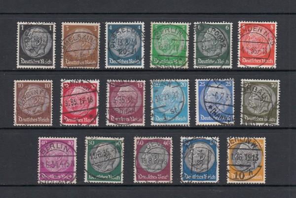 Deutsches Reich Mi-Nr. 512-528 zentrisch gestempelt