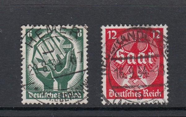 Deutsches Reich Mi-Nr. 544-545 zentrisch gestempelt