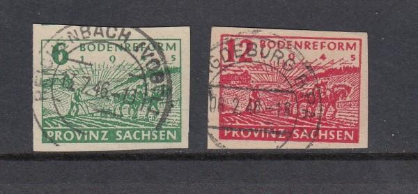 SBZ Ost Sachsen Mi-Nr. 85-86 gestempelt