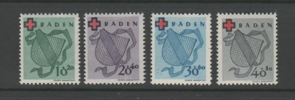 Französische Zone Baden Mi-Nr. 42-45 A ** postfrisch