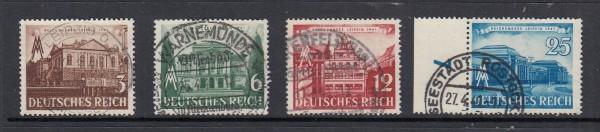Deutsches Reich Mi-Nr. 764-767 zentrisch gestempelt
