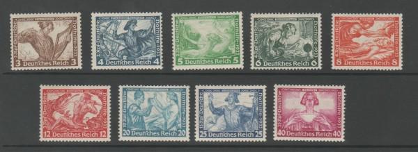 Deutsches Reich Mi-Nr. 499-507 ** postfrisch - Wagner