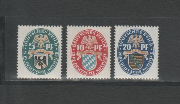 Deutsches Reich Mi-Nr. 375-377 ** postfrisch