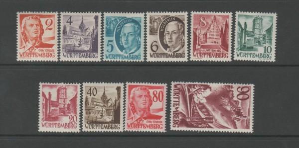 Französische Zone Württemberg Mi-Nr. 28-37 ** postfrisch