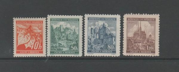 Böhmen und Mähren Mi-Nr. 38-41 ** postfrisch