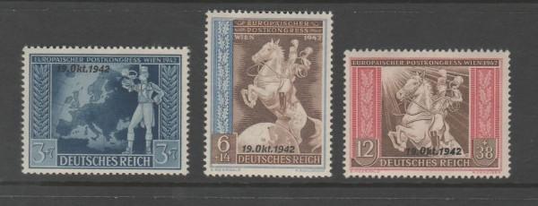 Deutsches Reich Mi-Nr. 823-825 ** postfrisch
