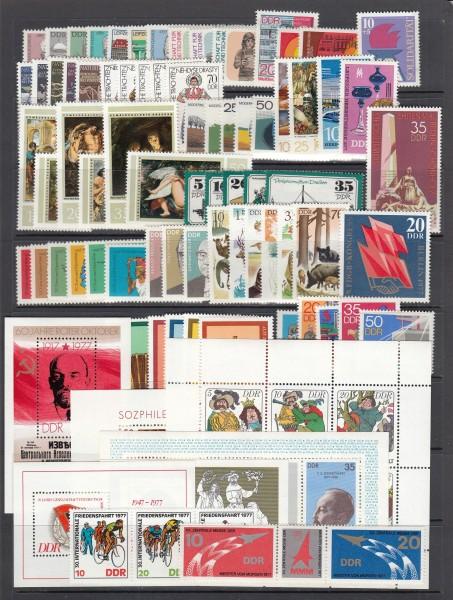 DDR Jahrgang 1977 ** postfrisch - komplett