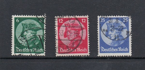Deutsches Reich Mi-Nr. 479-481 gestempelt