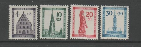 Französische Zone Baden Mi-Nr. 38-41 A ** postfrisch