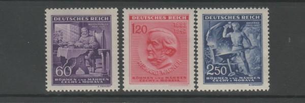 Böhmen und Mähren Mi-Nr. 128-130 ** postfrisch