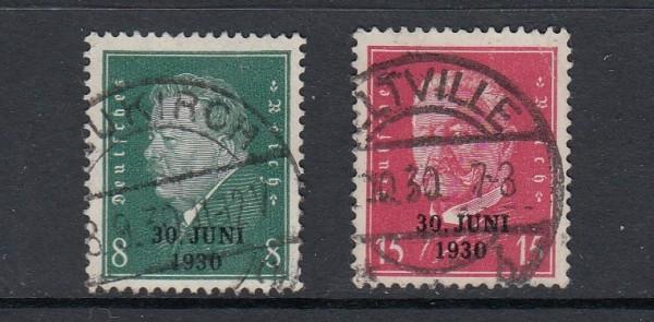 Deutsches Reich Mi-Nr. 444-445 zentrisch gestempelt