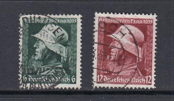 Deutsches Reich Mi-Nr. 569-570y gestempelt