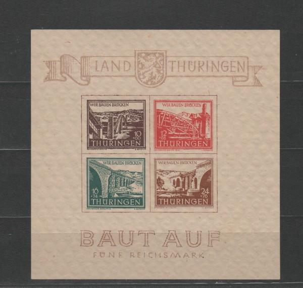 SBZ Thüringen Mi-Nr. Block 4 ** postfrisch