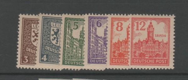 SBZ West-Sachsen Mi-Nr. 156-161X ** postfrisch