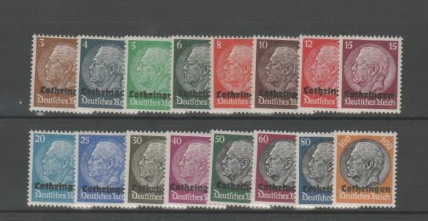 Besetzung II. Weltkrieg Lothringen Mi-Nr. 1-16 ** postfrisch