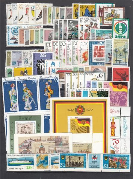 DDR Jahrgang 1979 ** postfrisch - komplett