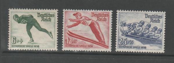 Deutsches Reich Mi-Nr. 600-602 ** postfrisch