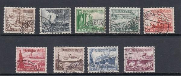 Deutsches Reich Mi-Nr. 651-659 gestempelt